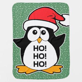 Pinguim bonito do Natal Ho Ho Ho Cobertorzinhos Para Bebe