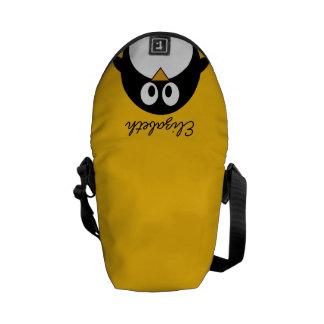 Pinguim bonito e moderno dos desenhos animados bolsas mensageiro