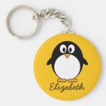 Pinguim bonito e moderno dos desenhos animados chaveiros