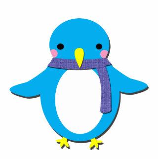 Pinguim bonito fotoesculturas