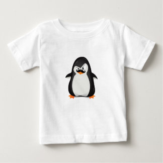 Pinguim branco preto bonito e bigode engraçado camiseta