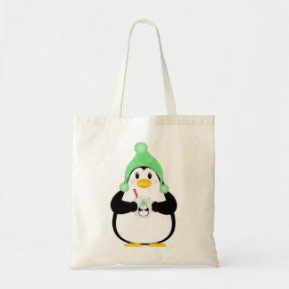 Pinguim com cacau quente sacola tote budget