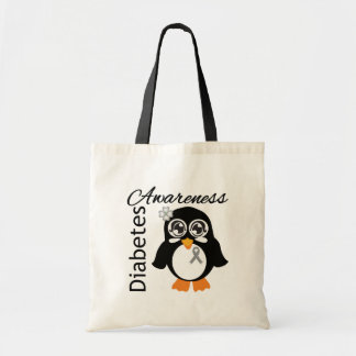 Pinguim da consciência do diabetes bolsa para compras