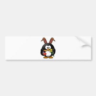 Pinguim da páscoa adesivo para carro