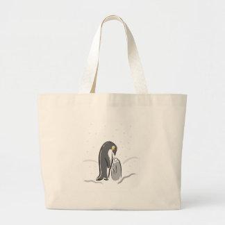 Pinguim de alimentação do bebê bolsa de lona