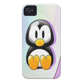 Pinguim de assento adorável dos desenhos animados capinhas iPhone 4