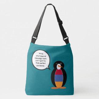 Pinguim de fala da bandeira arménia bolsas carteiro