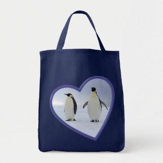 Pinguim de imperador sacola tote de mercado