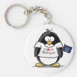 Pinguim de Michigan Chaveiro
