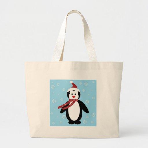 pinguim de natal bolsas de lona