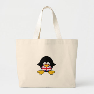 Pinguim de Union Jack Sacola Tote Jumbo