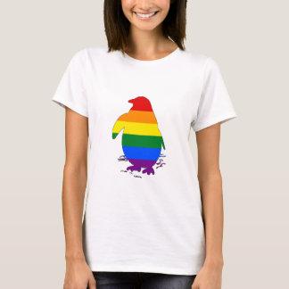 Pinguim do arco-íris camiseta