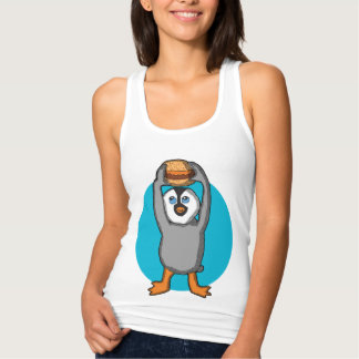 Pinguim do bebê e camisa do Hamburger