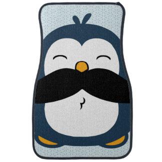 Pinguim do bigode tapete de carro