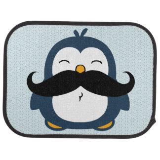 Pinguim do bigode tapete automotivo