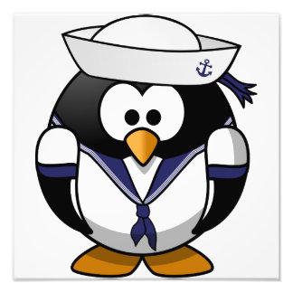 Pinguim do marinheiro impressão de foto