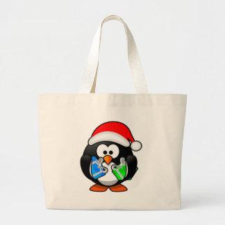 Pinguim do Natal Bolsa Para Compras