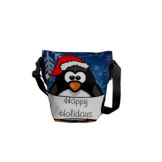 Pinguim do Natal Bolsas Mensageiro
