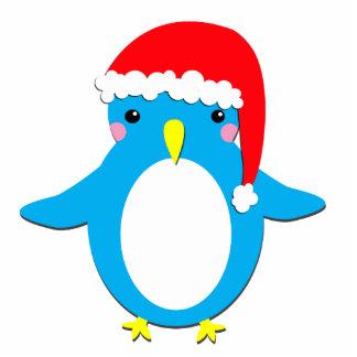 Pinguim do Natal Foto Escultura