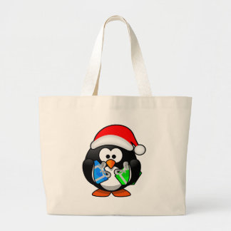 Pinguim do Natal Sacola Tote Jumbo