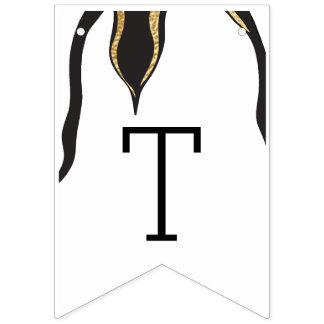Pinguim do ouro do chá de fraldas, bandeira de