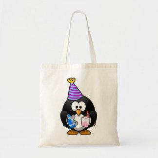 Pinguim do partido sacola tote budget