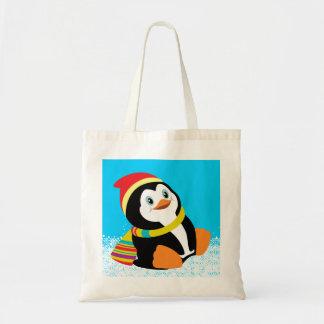 pinguim dos desenhos animados bolsa para compra