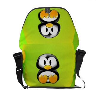 Pinguim dos desenhos animados bolsas mensageiro