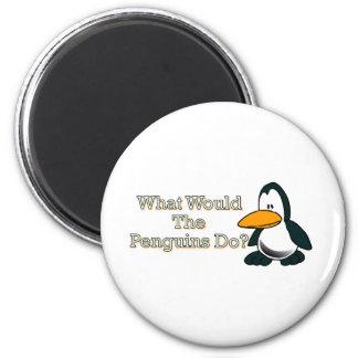 Pinguim dos desenhos animados imã