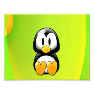 Pinguim dos desenhos animados impressão de foto