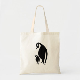 Pinguim e pintinho bolsa tote