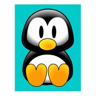 Pinguim engraçado bonito do bebê cartão postal
