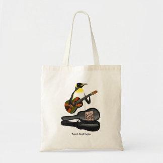 Pinguim engraçado Busking Bolsa Tote