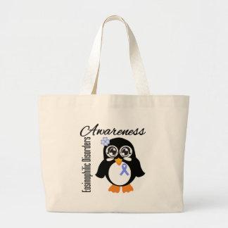 Pinguim Eosinophilic da consciência das desordens Sacola Tote Jumbo