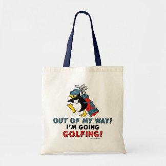 Pinguim Golfing Sacola Tote Budget