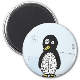 Pinguim instável dos cérebros imã