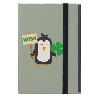 Pinguim irlandês com trevo Zjib4 Capa iPad Mini