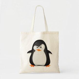 Pinguim irritado sacola tote budget