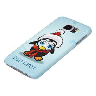 Pinguim Papai Noel Capas Samsung Galaxy S6