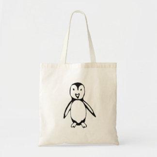 Pinguim pequeno bolsa tote