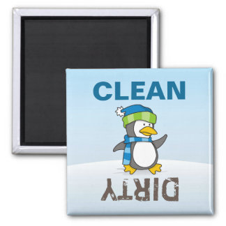 Pinguim pequeno que anda na neve imã