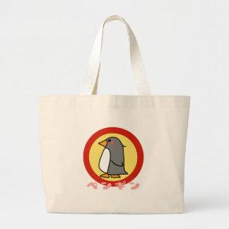Pinguim pequeno sacola tote jumbo