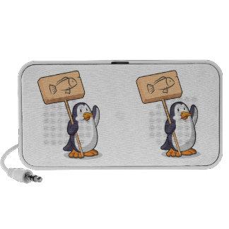 Pinguim que guardara um sinal de madeira