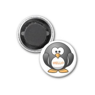 Pinguim redondo amigável bonito dos desenhos imã