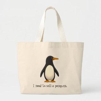 Pinguim Sacola Tote Jumbo