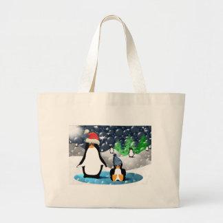Pinguins Sacola Tote Jumbo