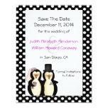 Pinguins bonitos que Wedding economias o anúncio Convite Personalizados