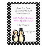 Pinguins bonitos que Wedding economias o anúncio d Convite Personalizados