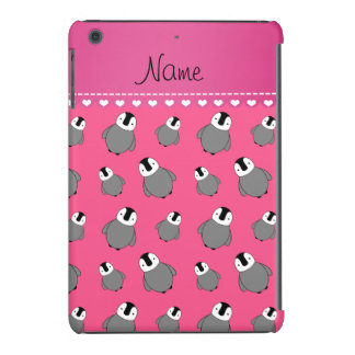 Pinguins cor-de-rosa conhecidos personalizados do capa para iPad mini retina