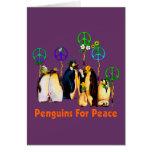Pinguins da paz cartão comemorativo